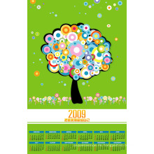 Custom Printed mit Herstellungspreis Wandkalender