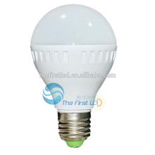 E27 7w lâmpada de luz de bulbo levou plástico