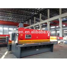 Machine hydraulique de guillotine qc11y-20x3200 / machine à percer la tôle de fer