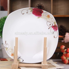Plato de cena de porcelana restaurante