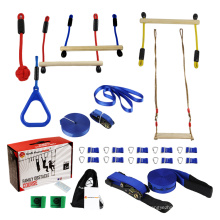 Outdoor Hanging Backyard Obstacle Course for Kids