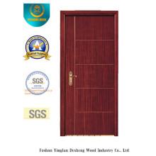 Porta moderna do MDF do projeto para o quarto com cor marrom (xcl-032)
