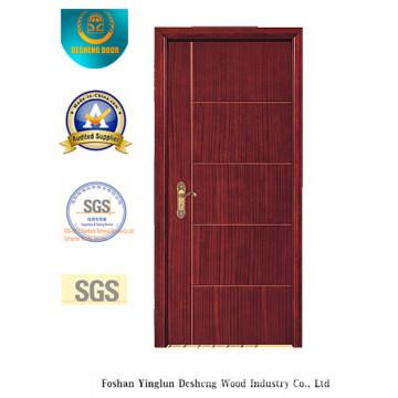 Modernes Design MDF Tür für Zimmer mit brauner Farbe (xcl-032)