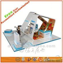 material de la cabina de exhibición, ideas de stand de exhibición, muestra de expo show de Shanghai
