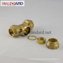 Equal Tee Brass PE Fitting