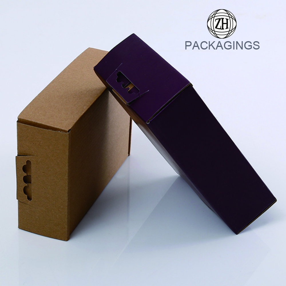 Custom kraft corrugated shipping box for suit