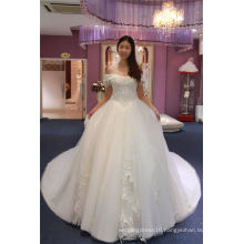 off Shoulder Long Train Bridal Wedding Gowns Ladies Dress