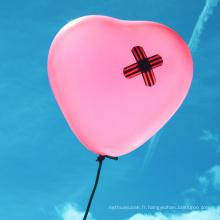 Ballons colorés de coeur pour la décoration de partie
