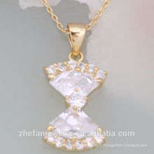 2018 dernière conception pendentif chaîne en or collier alibaba en russe Rhodium plaqué bijoux est votre bon choix