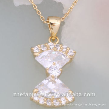 2018 latest design pendant gold chain necklace alibaba in russian Rhodium plated jewelry is your good pick