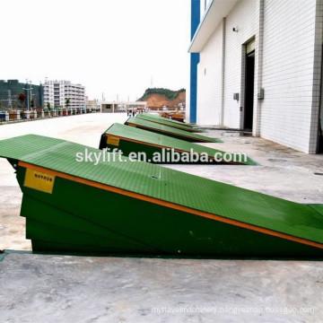 Hydraulic loading dock plastic leveling ramp