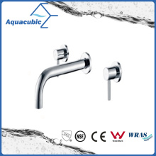 Wall Mount 3 Holes Chromed Dual Handle Bathtub Faucet (AF6009-2B)