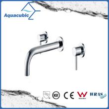 Wall Mount 3 buracos Chromed Dual Handle Bathtub Faucet (AF6009-2B)