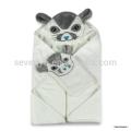 Длительный срок службы белый мышонок с капюшоном полотенца прямоугольник органические волокна бамбука полотенце гладкокрашеные и мочалки комплект