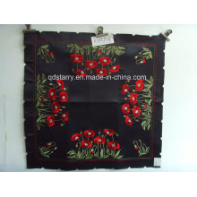 Rose Design Black Fabric Tablecloths St120
