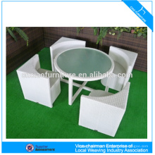 Space saving rattan furniture garden use wicker table and chair