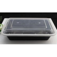 Leve embora o recipiente de alimento plástico descartável da bacia de sopa da microonda com tampa