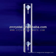 Pilier en cristal gravé de la lanterne laser 3D K9