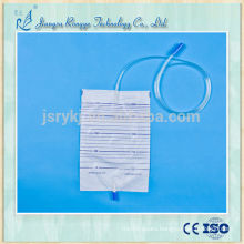 2000ml disposable urine bag with pull-push valve