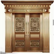 Portas de entrada duplas de luxo de cobre