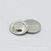 Round Name Magnetic Badge with Nickel Metal Cover
