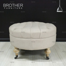 Newest Style Fabric Tufted Fancy Ottoman Furniture With Luxury Legs