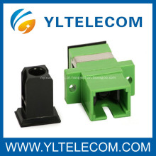 Adaptador de fibra óptica simplex, SC / APC fibra 0,2 dB de perda de inserção adaptador óptico
