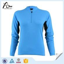 Синий узорный с длинным рукавом Велоспорт Джерси Велоспорт одежды