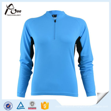 Blue Patterned Long Sleeve Cycling Jersey Cycling Clothes