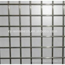 Treillis métallique soudé galvanisé 2x2 pour clôture / treillis métallique soudé
