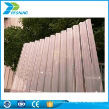 Folha de painel de telhado de policarbonato ondulado de proteção UV