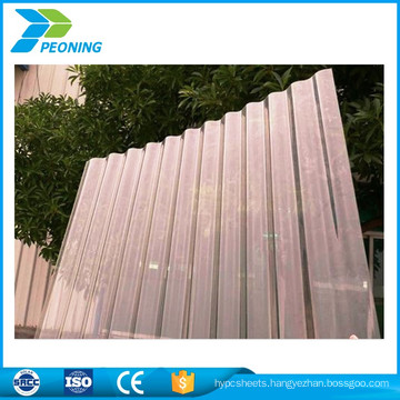 greenhouse usage recycled corrugated polycarbonate sheet transparant