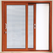 Aluminum Sliding Door with Inner Roller Blind
