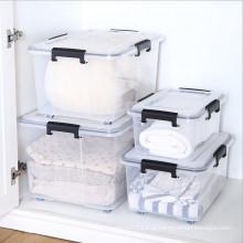 Caixa de armazenamento de empilhamento para produtos domésticos de plástico personalizado