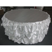 Fashion Satin Ruffled Table Cloth