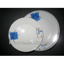 Haonai 12pcs bulk blue flower decal dinner plate sets