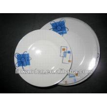 Haonai 12шт навалом синий цветок деколи обеденный набор наборы