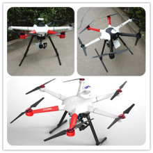 Commercial Drone 800mm Hexacopter 3 Axis Mirroless Cardán