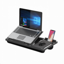 Extra wide size plastic lapdesk with mouse pad