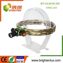 Factory Supply Gute Aluminium High Lumen Leistungsstarke 1 * aa oder 14500 CREE XPE 3W Focus Zoom führte wiederaufladbare Scheinwerfer für Outdoor