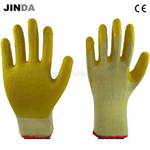 Crinkle Latex Coated Yarn Knitted Shell Labor Protective Work Safety Gloves (LS502)