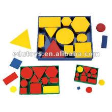 Juegos de juguetes al por mayor de bloques de atributo matemático