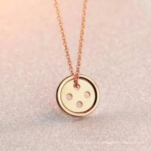 Simples aço inoxidável coreia / nepal / maori pingente de colar de jóias