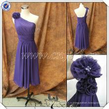 PP2568 Чирок Длина узоры одно плечо фиолетовый шифон платья невесты