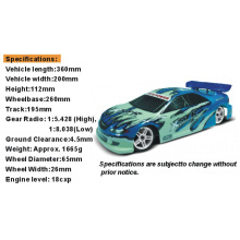 1: 10th Hsp RC Car with Nitro Gas Power on Road Touring Car