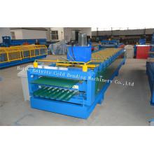 Doppelschicht-Wellprofil-Stahl-Dachblech-Maschine