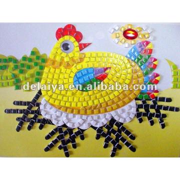 Etiqueta engomada del mosaico de la espuma de los niños DIY para Cock