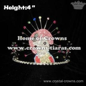 4inch Gorgeous Girl Crystal Crown