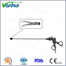 5 mm Instruments laparoscopiques courbes à 30 ° Pinces de dissection