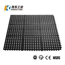3′*3′ Anti Skid Interlocking Perforated Rubber Boat Deck Mats with Holes